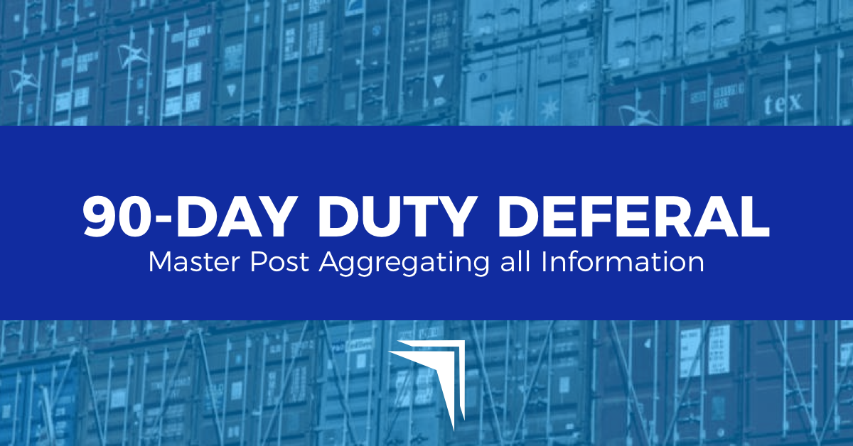 CBP Announces Deferment of Duties and Fees for Certain Importers During COVID-19 Response