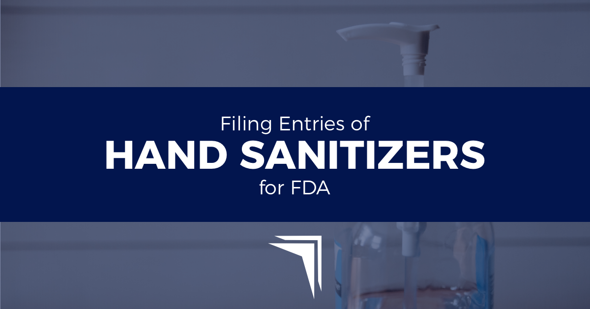 Filing Entries of Hand Sanitizers for FDA